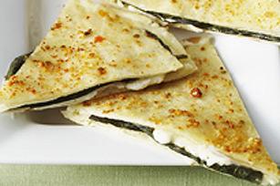 Pointes au basilic et au fromage