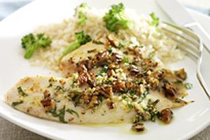 Filets de poisson aux pacanes et au parmesan