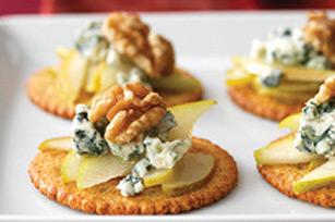 Amuse-gueule à la poire et au fromage bleu Image 1