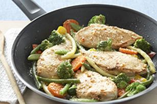 Poêlée de poulet et de légumes