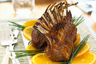 Mandarin-Glazed Rack of Lamb