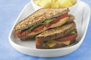 Sandwich au fromage grillé savoureux