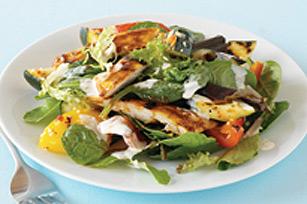 Salade de poulet grillé barbecue