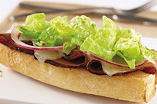 Sandwiches ouverts à manger au couteau et à la fourchette Image 1