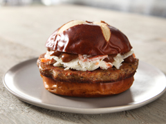 BOCA Essentials Roasted Vegetable & Red Quinoa Burgers with Coleslaw & South Carolina BBQ Sauce