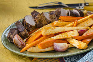 Roasted Masala-Spiced Pork with Root Vegetables