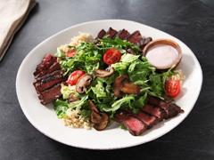 Rouge-Ranch Steak & Mushroom Salad