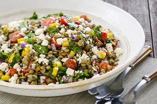Salade de lentilles et de légumes à la provençale