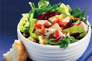Quick Chicken 'n' Cranberry Green Salad for One Image 1