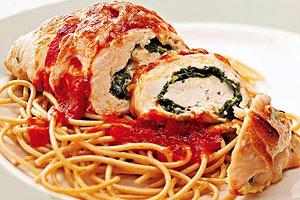 Spinach-Chicken Breast Rolls Image 1