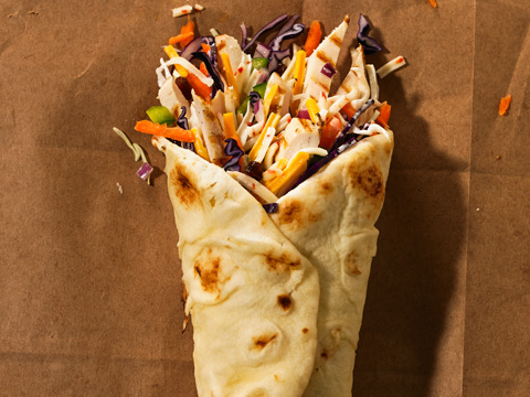 Sweet Curry Chicken Wraps