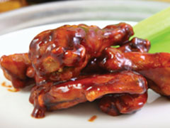 Whiskey-Dunked Wings