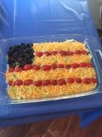 Taco Salad American Flag Dip Image 3