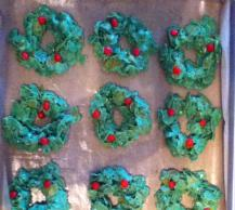 No-Bake Holly Cookies Image 2
