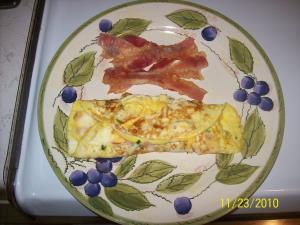 Cheesy Ham Omelet Image 2