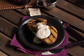 Grilled Peaches with Cinnamon-Sour Cream Sauce Image 2