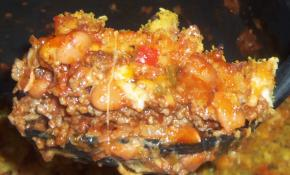 Ground Beef Chili & Cornbread Stuffing Bake Image 2