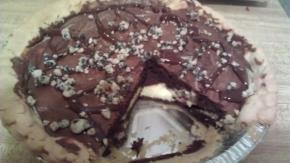 Cream Cheese Brownie Pie Image 3