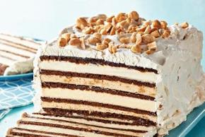 Chocolate-Peanut Butter Ice Cream Sandwich Cake Image 3