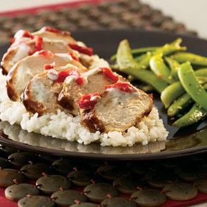 hoisin-chicken-over-sticky-rice-glazed-sugar-snap-peas-487815 Image 1