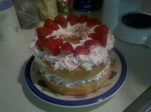 Strawberry & Cream Angel Cake Image 3