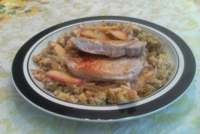 Stuffing-Topped Pork & Apple Skillet Image 2