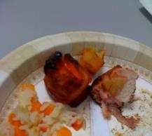Barbecue Chicken and Peach Kabobs with Bacon Image 3
