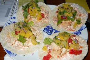 Salsa Chicken Wrap with Pineapple Pico de Gallo Image 2