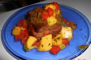 Bacon-Wrapped Pork with Mango Salsa Image 2