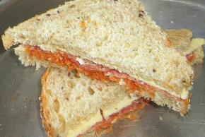 Grilled Salami Pizza Sandwich Image 2