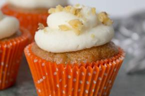 Carrot Cupcakes with Cream Cheese Frosting Image 2