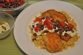 Breaded Tilapia with Black Bean Salsa Image 2