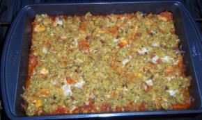 Ground Beef Chili & Cornbread Stuffing Bake Image 3